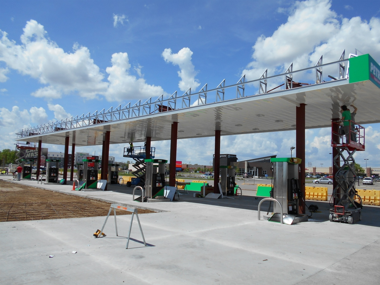Petro Stopping Center new canopy installation