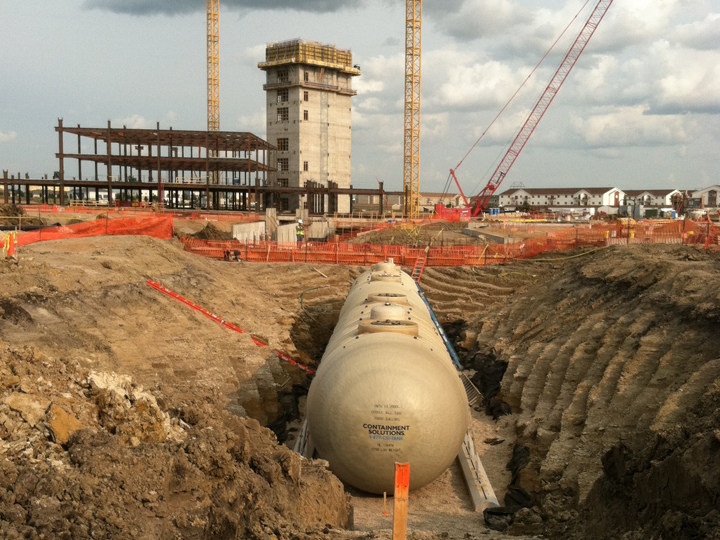 New power generation tank installation at Sanford Health building