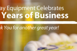O'Day Equipment Celebrates 81 Years of Business with birthday cake and candles